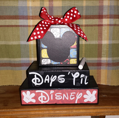 Disney Theme Vacation Countdown Chalk Blocks