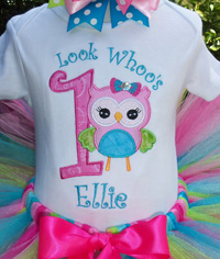 Sweet Owl Birthday outfit