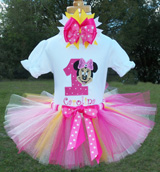 Minnie Mouse Full Face-Pink and Yellow