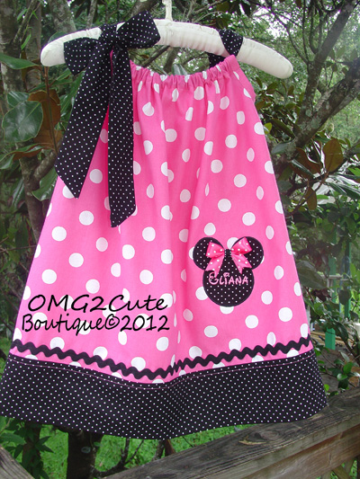 Minnie Mouse Pillow Case Dress-Pink