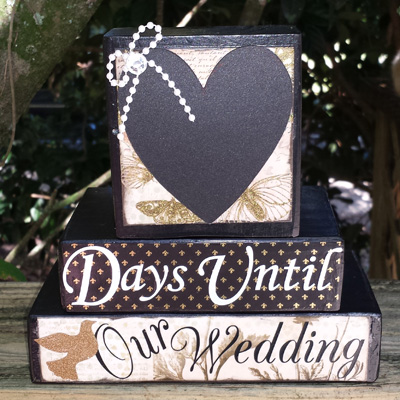 Wedding or Anniversary Countdown blocks